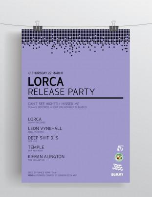 Tiny Beast Design - Lorca Single Launch Flyer