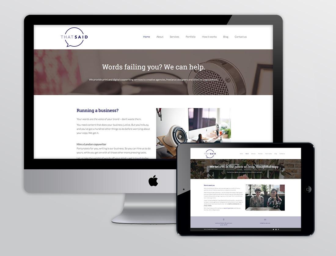 TinyBeastDesign-ThatSaid-Website